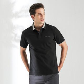 Columbia 哥伦比亚 户外男士翻领吸湿短袖T恤 PM3257 010 XL