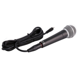 舒伯乐(Superlux)动圈麦克风手机K歌直播家庭影院卡拉OK 会议演讲专用有线话筒 TM-58 黑色