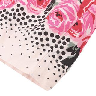 Gap旗舰店 童装 婴儿女婴 夏季玫瑰图案收腰圆领连衣裙375113 新纯粉色 90cm(18-24月)