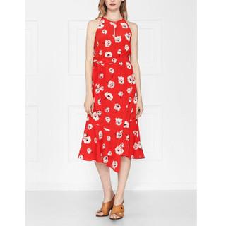 DEREK LAM 10 CROSBY女士系带裙 红色 美国尺码