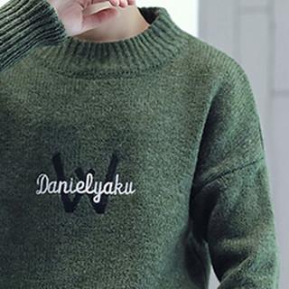 金盾(KIN DON)针织衫 新款男士时尚潮流加厚保暖圆领毛衣211-1-M9180绿色M