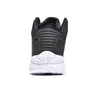 ERKE 鸿星尔克 篮球鞋男鞋新款休闲高帮耐磨减震运动鞋男战靴 51118304177 正黑/正白 42