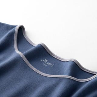 顶瓜瓜睡衣女纯棉春季时尚韩版七分袖可外穿家居服套装t01120jd 蓝色女款一 175