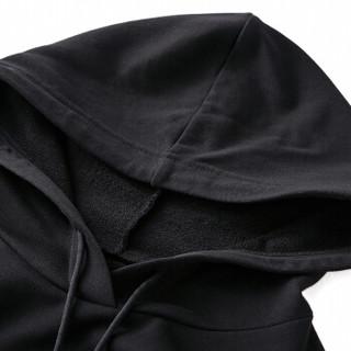 尚都比拉(Sentubila)连帽刺绣卫衣连衣裙女2019春季女装新品通勤百搭 191L3123351 黑色 XL