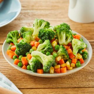 浦之灵 西兰花沙拉杂菜 350g 甜玉米粒 粟米粒 甜青豆 豌豆 胡萝卜 冷冻蔬菜 方便菜 生鲜 速冻食品 半成品菜