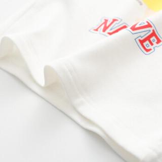 cicie自营童装女童T恤撞色印花套头衫女孩儿童上衣C91058 蓝色 140/64
