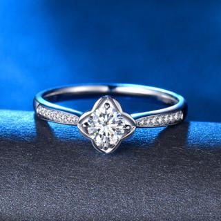 蓝色多瑙河 18K金钻石戒指群镶结婚钻戒婚戒女戒定制款 花锦 HD050N