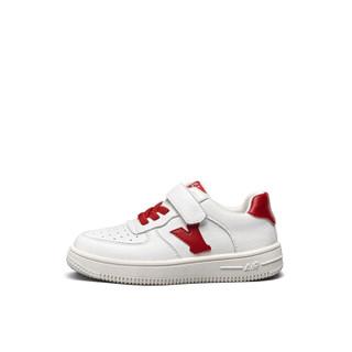 意尔康童鞋女童板鞋春款新品2019单鞋中大童儿童运动鞋男童鞋子ECZ9155665 红色 35