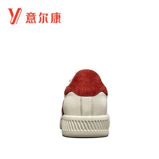 YEARCON 意尔康 女士休闲百搭韩版平底贝壳头板鞋单 8561ZD29957W 红色 38