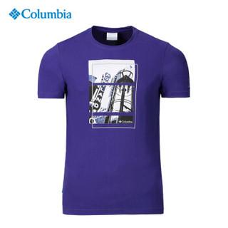 Columbia 哥伦比亚 户外男士野外探索系列圆领舒适吸湿科技印花短袖T恤 PM3491 468 M