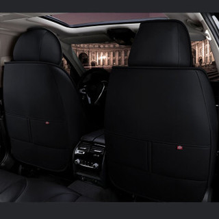 紫风铃全包围汽车坐垫四季通用皮革座垫座套途观朗逸哈弗H6博越卡罗拉宝来速腾英朗思域M03运动黑红-标准版