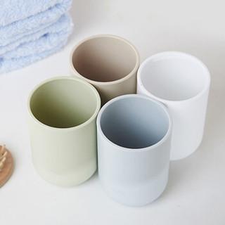 HOUYA好雅 3个装 漱口杯子 情侣牙刷杯 水杯 无印良品风格刷牙杯洗漱杯 颜色随机