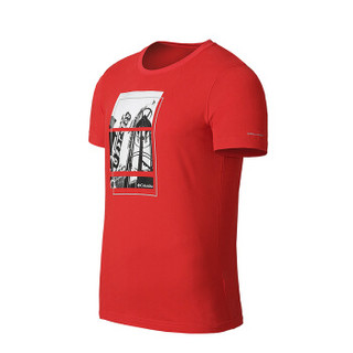 Columbia 哥伦比亚 户外男士野外探索系列圆领舒适吸湿科技印花短袖T恤 PM3491 696 M