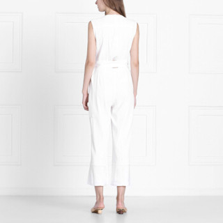 DEREK LAM 10 CROSBY女士扣件式无袖连体裤 白色 美国尺码