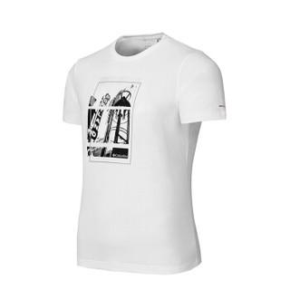 Columbia 哥伦比亚 户外男士野外探索系列圆领舒适吸湿科技印花短袖T恤 PM3491 100 XL