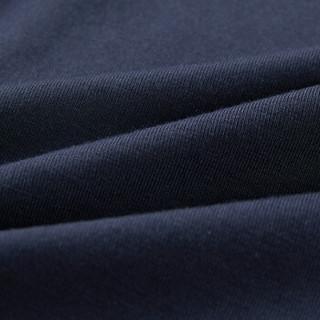 HLA 海澜之家 针织平角短裤男新品一条装轻薄柔软简约内裤 HUKAJ1R007A 藏青(07)170/95(L) (藏青色、L、平角裤、再生纤维)