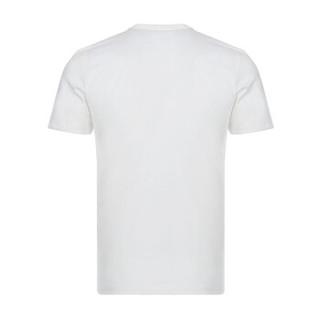 FENDI 芬迪 男士白色FF图案棉质圆领短袖T恤 FAF532 A54P F0UG8 XL码