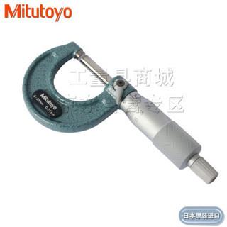 三丰外径千分尺 螺旋测微仪器 百分尺 测量面镶合金 烤漆尺架 250-275-300及以上 250-275mm_0.01mm