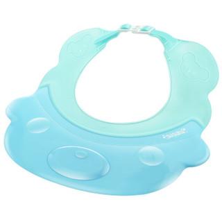 贝儿欣(BABISIL)婴儿防水浴帽护耳儿童洗发帽宝宝洗澡洗头帽 粉蓝