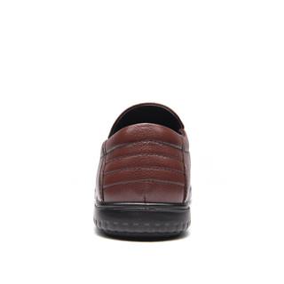 Fuguiniao 富贵鸟 男士皮鞋商务休闲圆头英伦时尚百搭 S994339 棕色 43