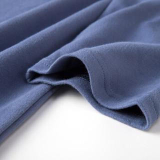 顶瓜瓜睡衣女纯棉春季时尚韩版七分袖可外穿家居服套装t11120jd蓝色男 180