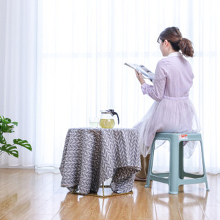 禧天龙Citylong 成人环保塑料凳子浴室椅凳47cm高加厚方凳北欧蓝 2075