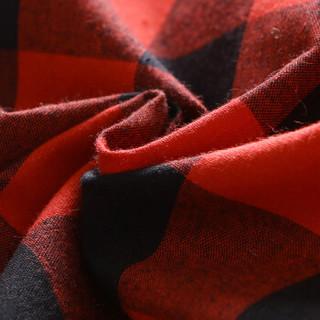 雅鹿 衬衫男士2019新款韩版格子保暖舒适长袖衬衣男装青年休闲寸衫潮  CS-S80 蓝灰格子 XL