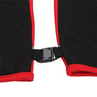 TOREAD 探路者 TREKKING徒步系列 男女通用保暖滑雪手套 ZELF80090-A76X 嫣红 半手指骑行手套 L