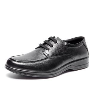 奥康(Aokang) 日常休闲商务系带低帮皮鞋 17321148841 黑色 41码
