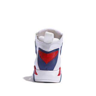 森马 Senma 时尚潮流拼色户外跑步运动系带韩版休闲鞋女 229114203 白蓝色 39码