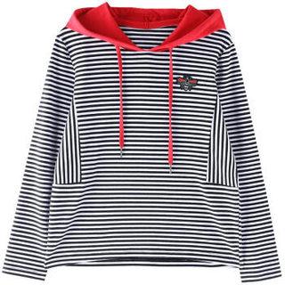 liqiao 丽乔  春季新款T恤女简约针织衫毛衣套头长袖时尚优雅街头甜美潮流个性 yzXXG526 黑白条纹 M