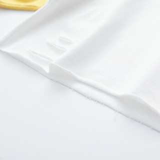 cicie自营童装女童卫衣蝙蝠袖绣花套头衫撞色女孩儿童上衣C91002 黄色 150/72