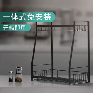 华帝 锅铲架子 不锈钢勺子铲子挂架 六钩厨房置物架黑色 W570