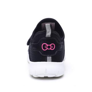 HelloKitty 女童运动鞋 休闲时尚透气网面跑步鞋K8513803黑色33