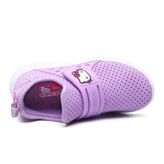 HelloKitty 女童运动鞋 休闲时尚透气网面跑步鞋K8513803嫩紫32