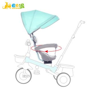 巴巴泥 barbne 儿童三轮车带篷脚踏车1-3-6岁轻便可折叠宝宝手推车2-6岁自行车婴儿童车 菲尼绿