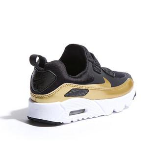 耐克(Nike)童鞋 减震气垫鞋 男女童防滑耐磨运动鞋881926-006 黑色/金色 13C/31码