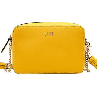 ELLE 她 女包斜挎包单肩包小跨包链条包女士小方包E28F1290327YW 黄色