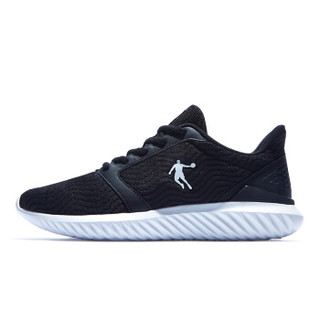 QIAODAN 乔丹 男鞋跑步鞋舒适透气运动鞋 XM1590243 黑色/白色 40.5