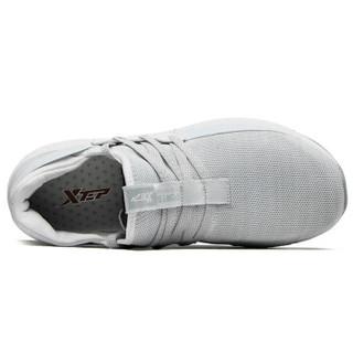 XTEP 特步 男鞋跑鞋新款轻薄舒适网面跑步鞋休闲正品男运动鞋 982219119296 白色 39码