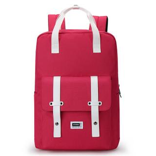 Mexican 稻草人 男士双肩包 时尚旅行包商务电脑包休闲背包牛津布书包MMJB01181991红色
