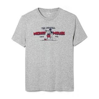 Gap旗舰店 男装 Gapx Disney 迪士尼系列棉质印花内搭短袖T恤男401496 石楠灰 180/96A(M)