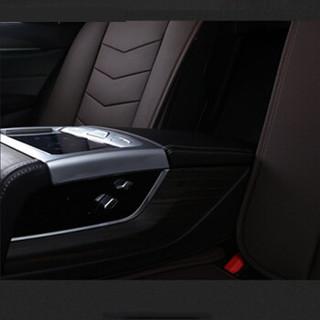 紫风铃全包围汽车坐垫四季通用皮革座垫座套途观朗逸哈弗H6博越卡罗拉宝来速腾英朗思域M03运动黑白-标准版