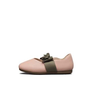 意尔康童鞋2019春新款女童小皮鞋甜美公主鞋学生儿童单鞋女童鞋子ECZ9123646 粉色 32