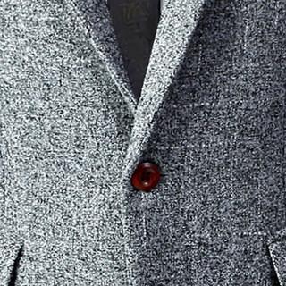 俞兆林(YUZHAOLIN)西服 男士时尚职业商务正装西服外套4016-1-1606灰色XL