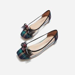 hotwind 热风 H24W9521 女士时尚单鞋 36绿格子 36