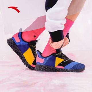 ANTA 安踏 跑步系列 11915551 男鞋 2019年新款男子跑鞋潮流拼接撞色轻便绑带男跑鞋 海岸蓝/正蓝/黑 7(女38)