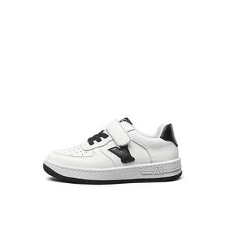 意尔康童鞋女童板鞋春款新品2019单鞋中大童儿童运动鞋男童鞋子ECZ9155665 黑色 28