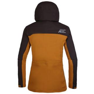 TOREAD 探路者 探路者冲锋衣 秋冬户外女套绒防风保暖旅行冲锋衣TAWF92913 麦棕\深咖啡 S