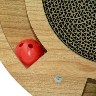 福丸 木质猫抓板磨爪板猫玩具 圆形轨道带球猫抓板 1个
